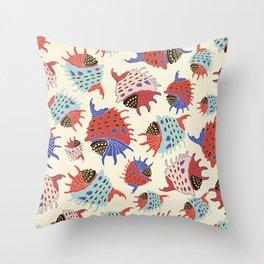 Colorful seashells. Throw Pillow