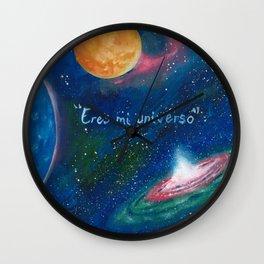 Eres mi universo Wall Clock