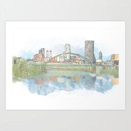 Birmingham Bridge Art Print