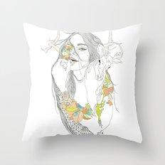 colour blind Throw Pillow