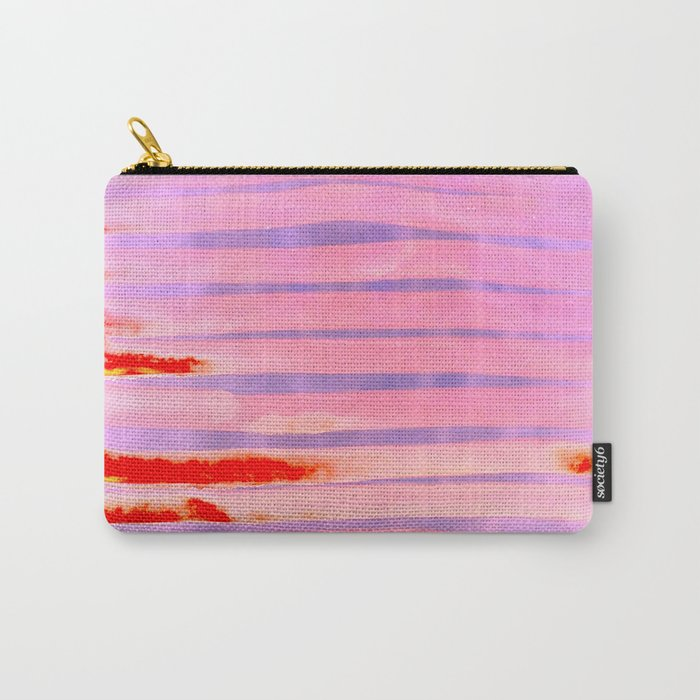Pink Lava Lines Carry-All Pouch