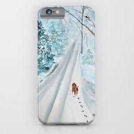 A Snowy Winter Walk iPhone Case