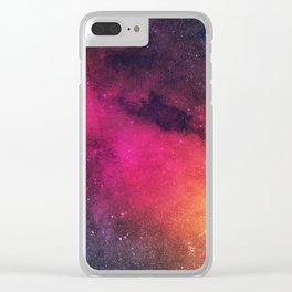 Born in Nebula Clear iPhone Case