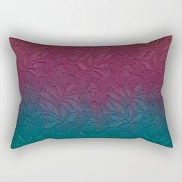 Gable green navy blue burgundy lace gradient Rectangular Pillow