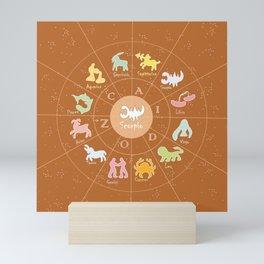 Scorpio, 2, Zodiac, Astrology, Horoscope, Stars, Sun-and-moon. Birthday, Valentines-day, Holidays, Mini Art Print