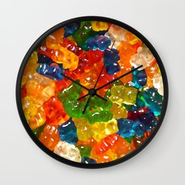 Gummy Bears by Squibble Design Wall Clock