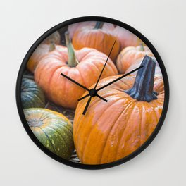 Pumpkin at the Patch Wall Clock