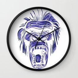 GORILLA KING KONG - Blue Wall Clock