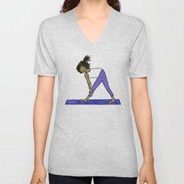 Yoga Folks - Standing Forward Bend.  Unisex V-Neck