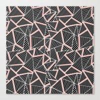 Ab Lines Blush Canvas Print