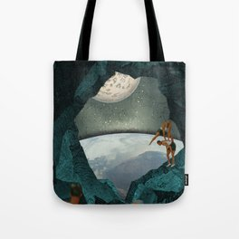 Space Spelunking Tote Bag