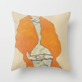 Egon Schiele Standing Man Figure Throw Pillow