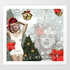 Marilyn Christmas Art Print