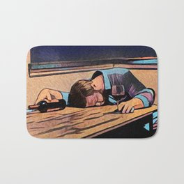 Blue Collar Night Bath Mat
