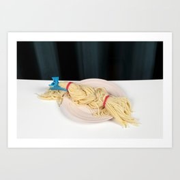 Blond Braid Art Print