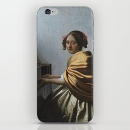 """Johannes Vermeer """"A Young Woman Seated at the Virginal"""" iPhone Skin"""