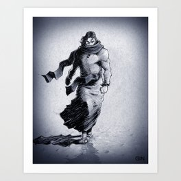 Walking on water means he conquered death! Art Print