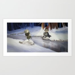 Over the Winter Wall Art Print