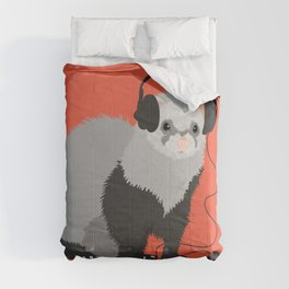 Music Loving Ferret Comforters
