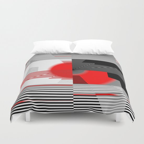 black and white meets red Version 4 Duvet Cover