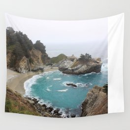 Foggy Day in Big Sur Wall Tapestry