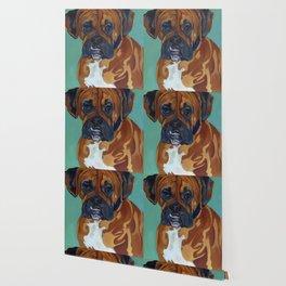 Boxer Dog Pet Portrait Wallpaper