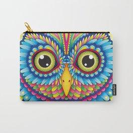 Tropicalia Owl Art Carry-All Pouch