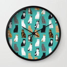 Cat lover must have gifts for cat ladies cat men kitty cats Wall Clock