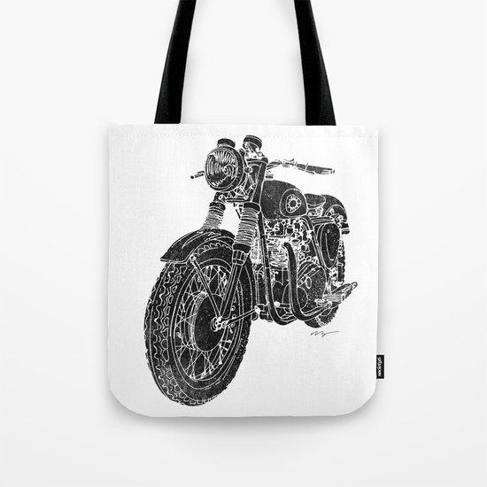 Vintage BSA Super Rocket Motorcycle Tote Bag