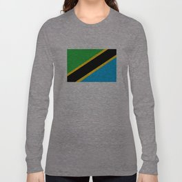 Tanzania country flag Long Sleeve T-shirt