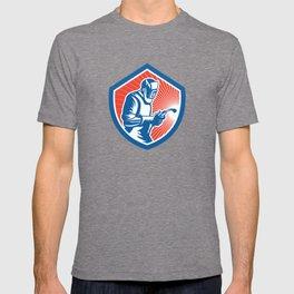 Welder Fabricator Welding Torch Side Shield Retro  T-shirt