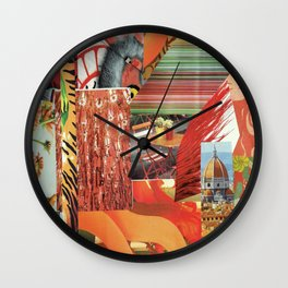 "Collage - ""Orange You Glad'"" Wall Clock"