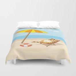 enjoy summer Duvet Cover