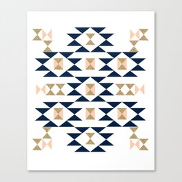 Jacs - Modern pattern design in aztec themed pattern navajo print textile cute trendy girl Canvas Print