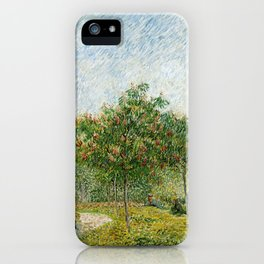 Vincent Van Gogh - Garden in Montmatre with Lovers iPhone Case