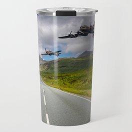Lancaster Bomber in Snowdonia Travel Mug