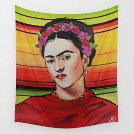 Portrait of Frida Kahlo Wall Tapestry