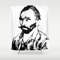 van gogh Shower Curtains featuring Van Gogh by ISHTAR