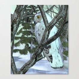 Into The Wild Snowy Owl Canvas Print