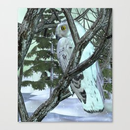 Into The Wild Snowy Owl Canvas Print