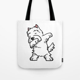 Funny West Highland White Terrier Dabbing Tote Bag