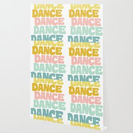 Dance in Candy Pastel Lettering Wallpaper