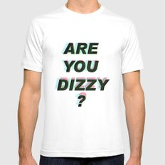 Are you dizzy?  Mens Fitted Tee White MEDIUM