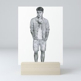 Contemplative Gentleman Mini Art Print