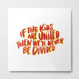Kids United - White Metal Print
