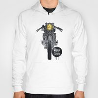 cafe racer Hoodies featuring Moto - cafe racer by dareba
