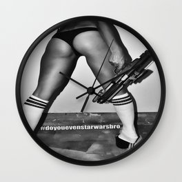 B is for Blaster (Not Booty) Wall Clock