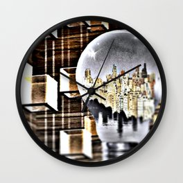 BETWEEN THE DARK AND THE LIGHT Wall Clock