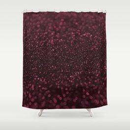 DARK RUBY GLITTER SPARKLING LIGHTS Shower Curtain
