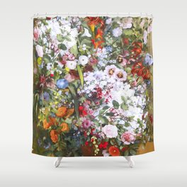 Spring riot of flowers - Courbet inspired Shower Curtain